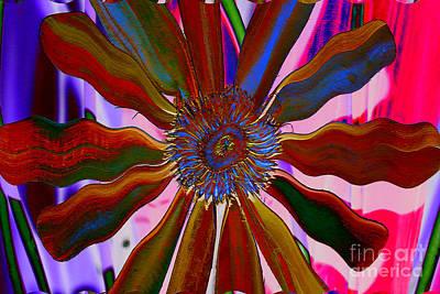 Kim Digital Art - Flower Power by Kim Peto