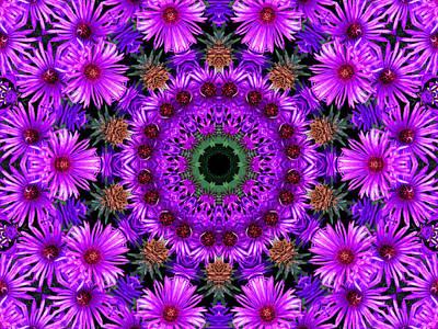 Flower Power Art Print by Kristie  Bonnewell