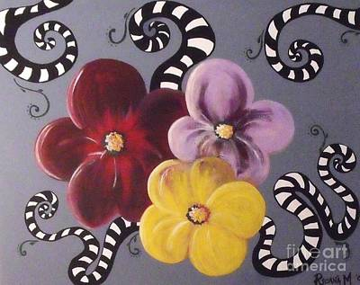Beetlejuice Painting - Flower Power by Rosana Modugno