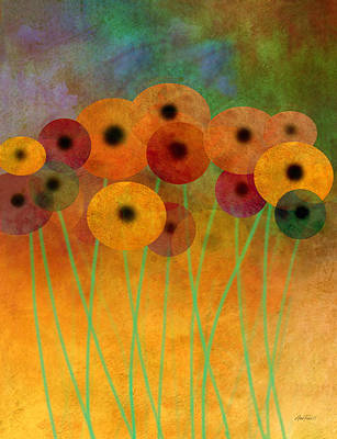 Painting - Flower Power Seven Abstract Art  by Ann Powell