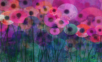 Painting - Flower Power Six by Ann Powell