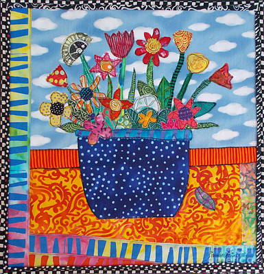 Tapestry - Textile - Flower Power by Susan Rienzo