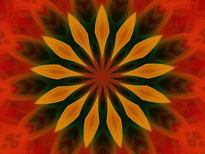 Digital Art - Flower Power by T T