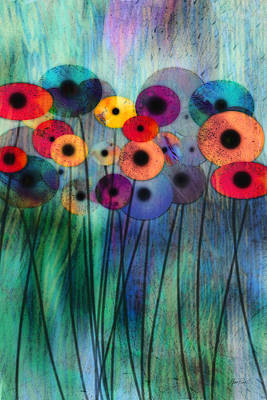 Flower Power Three Art Print by Ann Powell