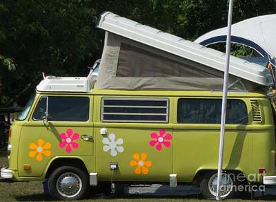 Photograph - Flower Power Vw by Gail Matthews