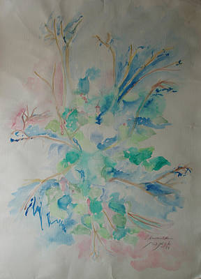 Painting - Flower Requiem by Esther Newman-Cohen