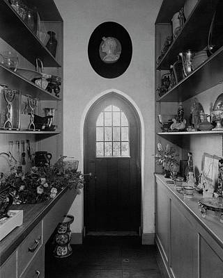 Window Bench Photograph - Flower Room In The Home Of Mrs. Charles Wheeler by Peter Nyholm & F.S. Lincoln