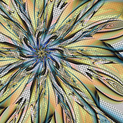 Digital Art - Flower Screen by Kiki Art