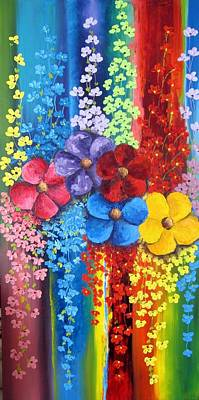 Painting - Flower Shower by Katia Aho