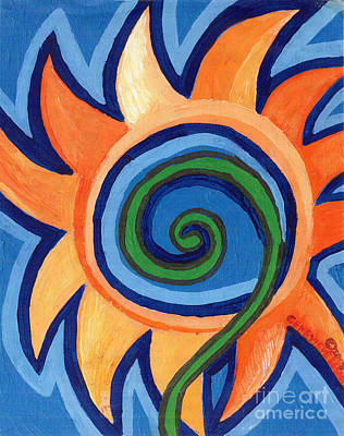 Painting - Flower Spiral by Genevieve Esson
