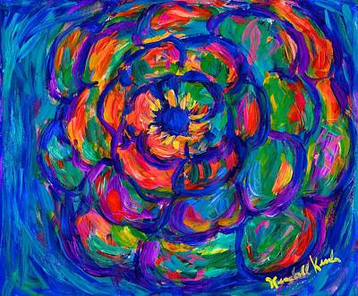 Painting - Flower Spiral by Kendall Kessler