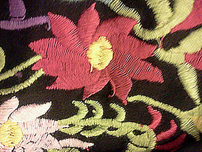 Homemade Quilts Tapestry - Textile - Flower Stich by Ismael Lopez