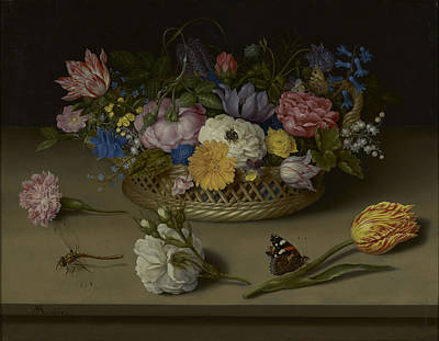 Painting - Flower Still Life by Ambrosius Bosschaert