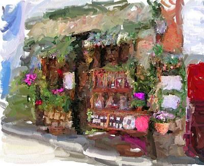 Old Town Digital Art - Flower Store by Yury Malkov