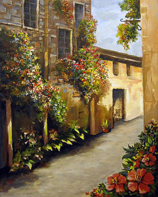 Painting - Flower Street by Carol Hart