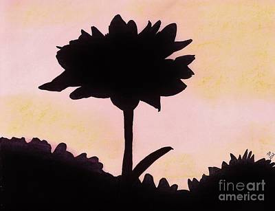 Art Print featuring the drawing Flower - Sunrise by D Hackett