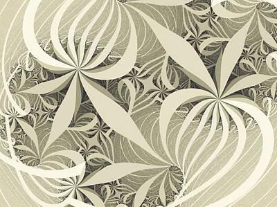 Flower Swirl Art Print by Anastasiya Malakhova