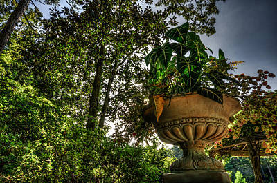 Duke Gardens Photograph - Flower Urn At Sunset by Anthony Doudt