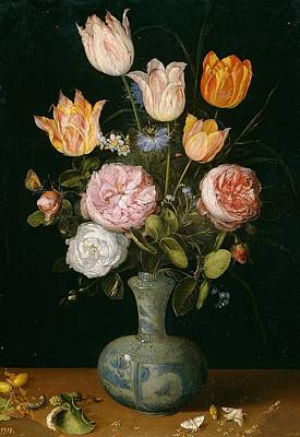 Netherlands Painting - Flower Vase by Jan Brueghel the Elder