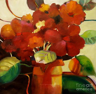 Art Print featuring the painting Flower Vase No. 3 by Michelle Abrams