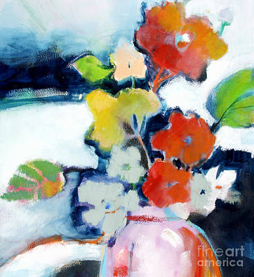 Art Print featuring the painting Flower Vase No.1 by Michelle Abrams