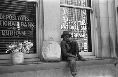 Black Commerce Photograph - Flower Vendor, 1940 by Granger