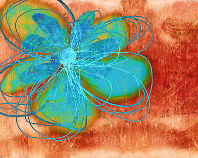 Painting - Flower  Whimsy In Blue by Ann Powell