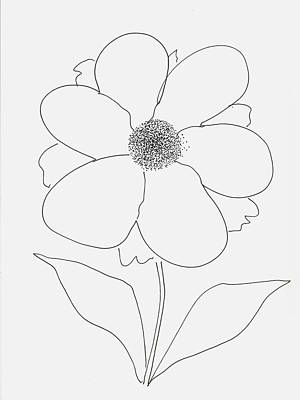 Stamen Drawing - Flower With Pollen by Rob Prince