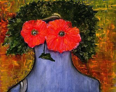 Flower Woman Art Print
