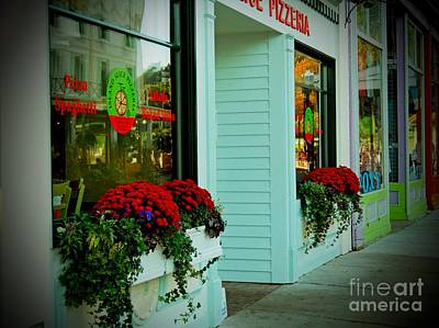 Photograph - Flowerboxed Storefronts by Desiree Paquette
