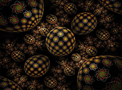Phil Clark Digital Art - Flowered Eggs by Phil Clark