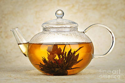 Teapot Photograph - Flowering Blooming Tea by Elena Elisseeva