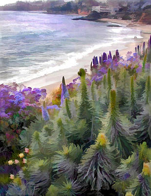 Flowering Coastline Art Print by Elaine Plesser