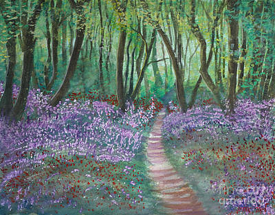 Painting - Flowering Forest by Lior Ohayon