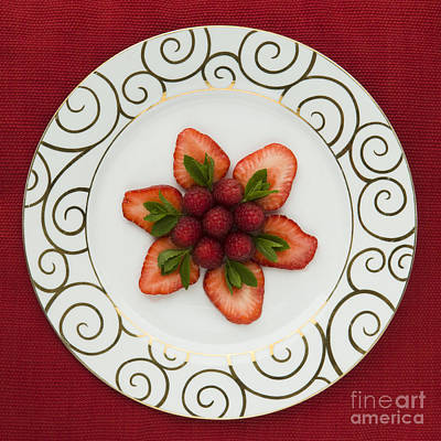 Flowering Fruits Art Print by Anne Gilbert