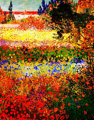 Celestial Painting - Flowering Garden by Vincent Van Gogh