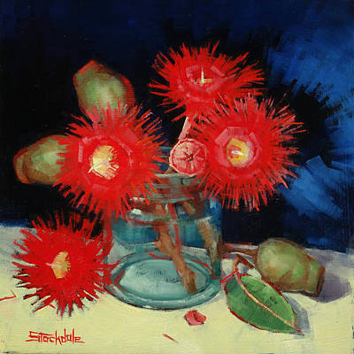 Painting - Flowering Gum Still Life by Margaret Stockdale