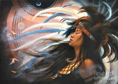 Indigenous Culture Painting - Flowering Heart In The House Of Song by Sharon Irla