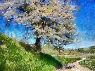 Flowering Tree Art Print by Dragica  Micki Fortuna