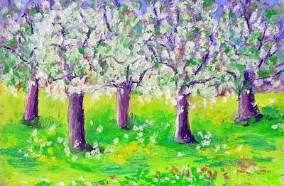 Pastel - Flowering Trees by Pat Olson