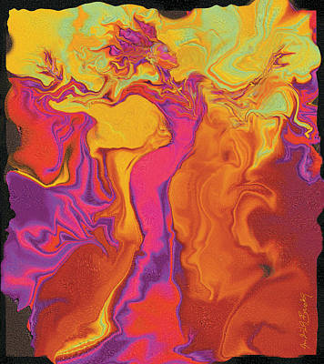 Flowerishing Dancer Art Print