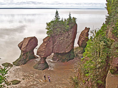 Flowerpots Over Fundy Bay At Hopewell Rocks-new Brunswick-canada Original by Ruth Hager
