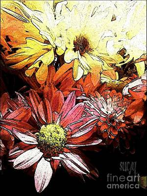 Flowerpower Art Print by Susan Townsend