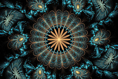 Digital Art - Flowers 2 by Sandy Keeton