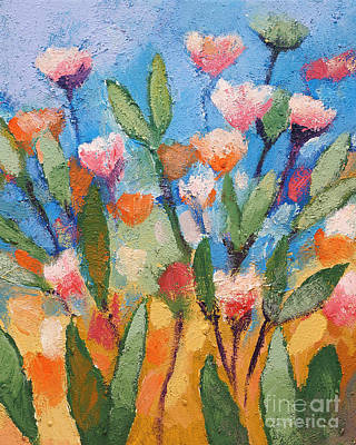 With Blue Painting - Flowers Again by Lutz Baar