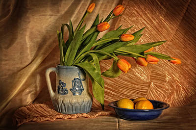 Photograph - Flowers And Fruit by Mike Martin