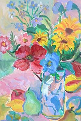 Painting - Flowers And Fruits by Brenda Ruark