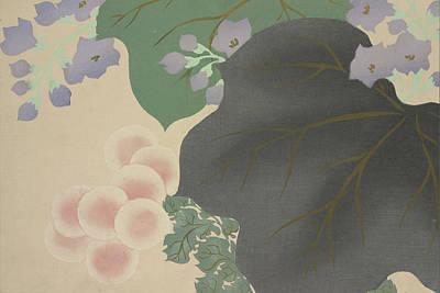Nature Abstract Drawing - Flowers And Leaves, Kamisaka, Sekka, Artist by Artokoloro