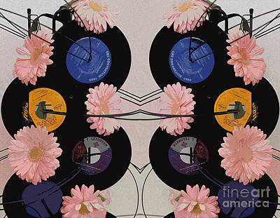 Flowers And Phonographs Art Print