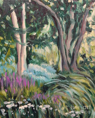 Flowers And Shade Art Print by Hilary England